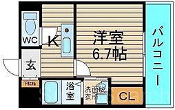 ロイヤルメゾン北花田[1階]の間取り