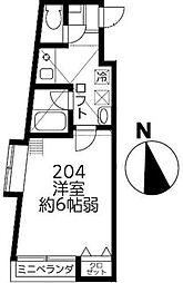 ファインミル調布[2階]の間取り