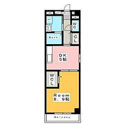 プランドール (PRENDRE)[4階]の間取り