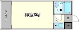 アパートメント天王寺[6階]の間取り