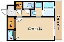 ナッツダムスタジオーネ塚口[2階]の間取り