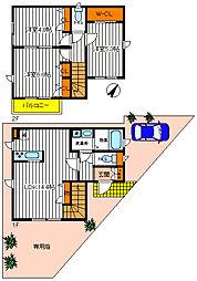 [一戸建] 東京都昭島市緑町2丁目 の賃貸【/】の間取り