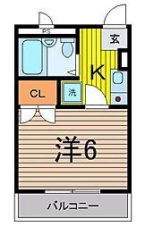 埼玉県ふじみ野市鶴ケ岡3丁目の賃貸マンションの間取り