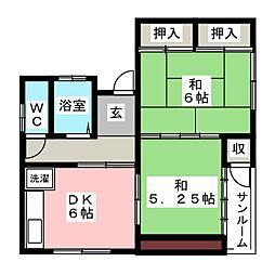 第二水明荘[2階]の間取り