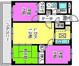 プラムハイツ2[8階]の間取り