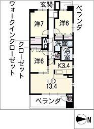 グラン・アベニュー名駅南[5階]の間取り