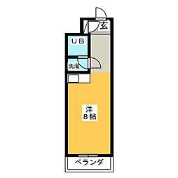 セザール松原402号[4階]の間取り