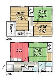[一戸建] 千葉県八街市富山 の賃貸【/】の間取り