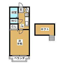 ソレアード遠見塚壱番館[1階]の間取り
