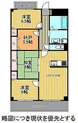 愛知県名古屋市千種区向陽町1丁目の賃貸マンションの間取り