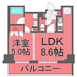 ポルトパルティーレ横浜[5階]の間取り