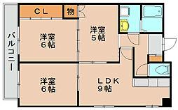 エリーナ箱崎[2階]の間取り