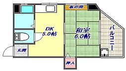 豊田マンション[401号室]の間取り