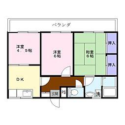 福富マンション[2階]の間取り