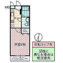 OGURI II[205号室号室]の間取り
