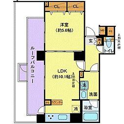 都営三田線 白山駅 徒歩8分の賃貸マンション 6階1LDKの間取り