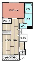 (仮)若松区東二島3丁目新築アパート[101号室]の間取り