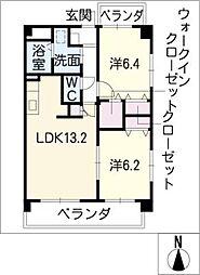 ドミール[5階]の間取り