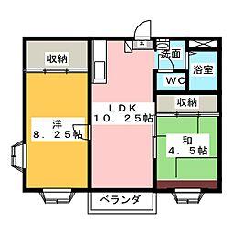 プランドール高崎A[2階]の間取り