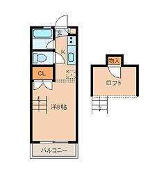 山愛2番館[105号室]の間取り