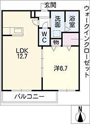 エクセレンス勝川[2階]の間取り