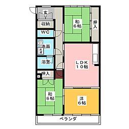アビタシオンOHNO[4階]の間取り