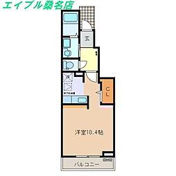 三重県桑名市松ノ木7丁目の賃貸アパートの間取り