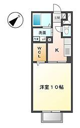 モナリエーレII A[2階]の間取り