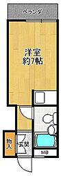 阪神不動産販売今津ビル[2階]の間取り