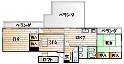霧ヶ丘芙陽グランドマンション[5階]の間取り
