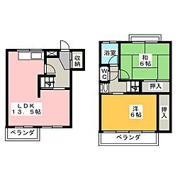 ワイズタウン3棟[3階]の間取り
