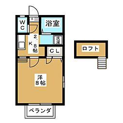 エクセルシャトー[1階]の間取り