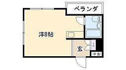 グッドハウス武庫川[304号室]の間取り