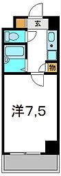 京阪本線 西三荘駅 徒歩1分の賃貸マンション 6階1Kの間取り