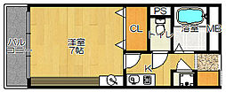 Kキュービック(ケイキュービック)[7階]の間取り