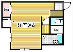 ハイツ大阪[3階]の間取り