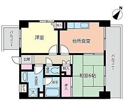 ロングウェル川崎(角部屋)[804号室]の間取り