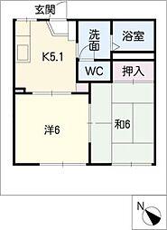 コーポイトウA棟[1階]の間取り