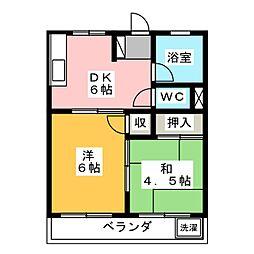 グリーンハイツU[1階]の間取り