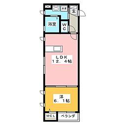 静岡県磐田市新貝の賃貸マンションの間取り