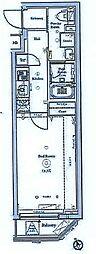 AXAS北池袋 2階1Kの間取り