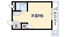 アールズコート喜多山[1E号室]の間取り