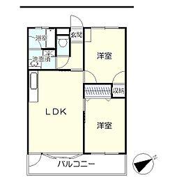 板橋ビル(マンション)[205号室]の間取り