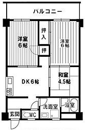 グランドール天王寺[3階]の間取り