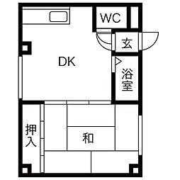 メニーズコート麻生北[1階]の間取り