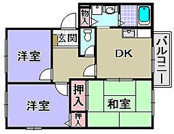 ロジュマンイズミB・C・D棟[2階]の間取り