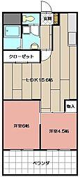 田町ビル[804号室]の間取り