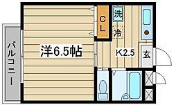 東京都板橋区大山金井町の賃貸アパートの間取り