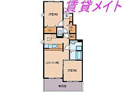 メゾン・ジュネス I・II[1階]の間取り