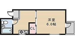 コーポ中野(H)[302号室]の間取り
